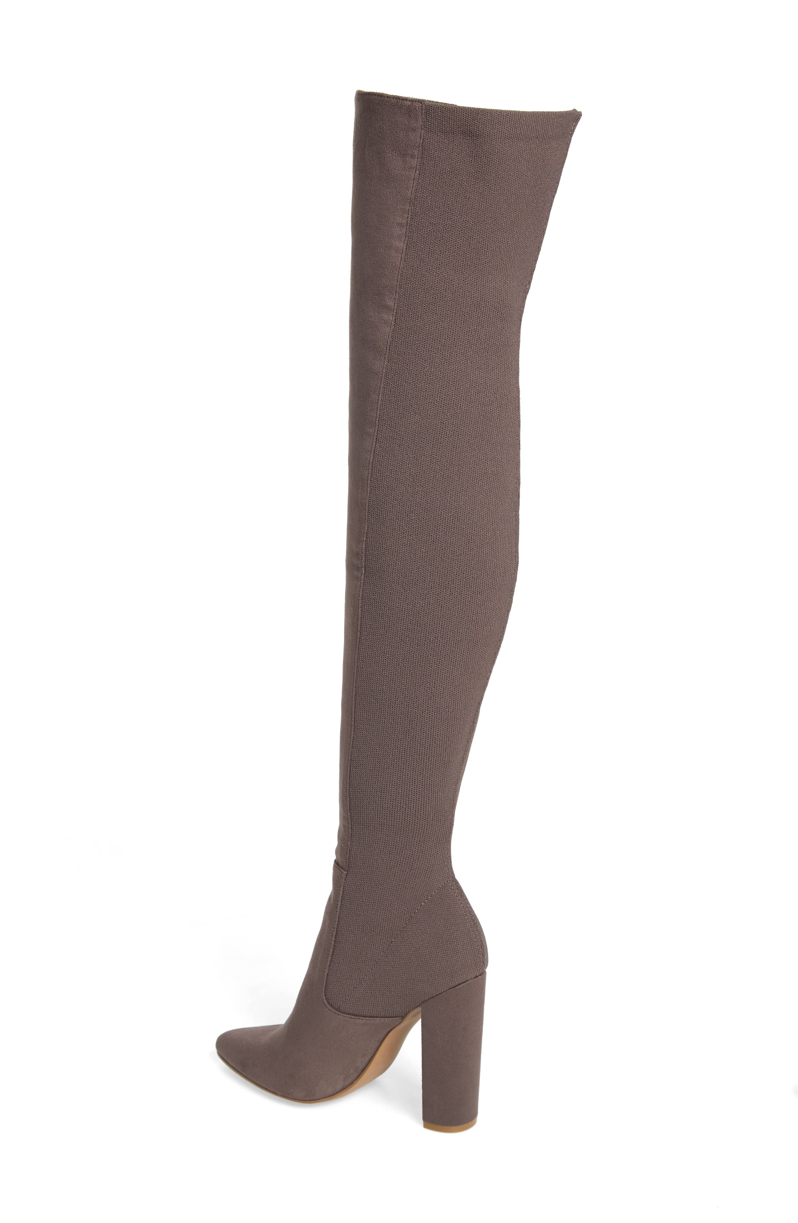 ,                             Essence Over the Knee Stretch Boot,                             Alternate thumbnail 2, color,                             GREY