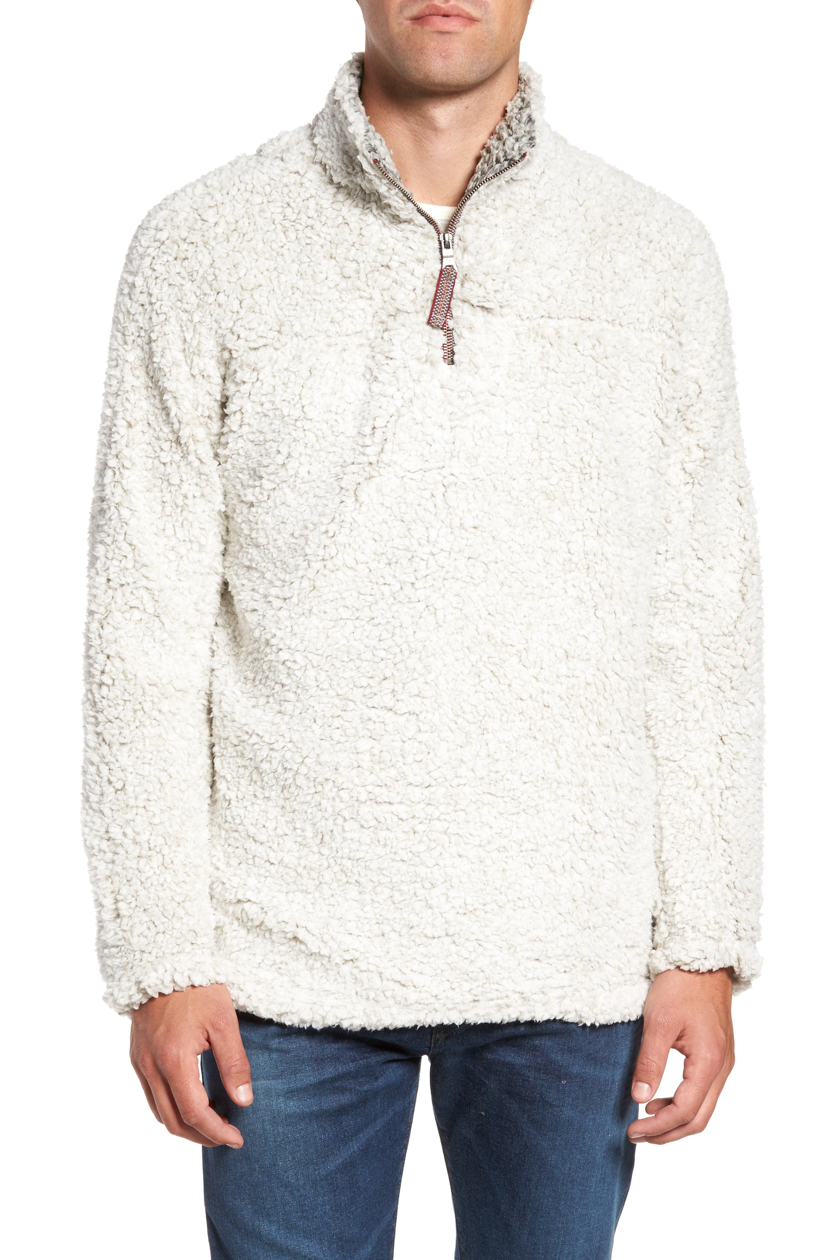 ,                             Frosty Tipped Quarter Zip Pullover,                             Main thumbnail 15, color,                             208