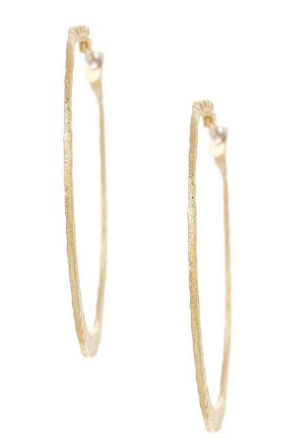 Image of Rivka Friedman 18K Gold Clad Hammered Hoop Earrings