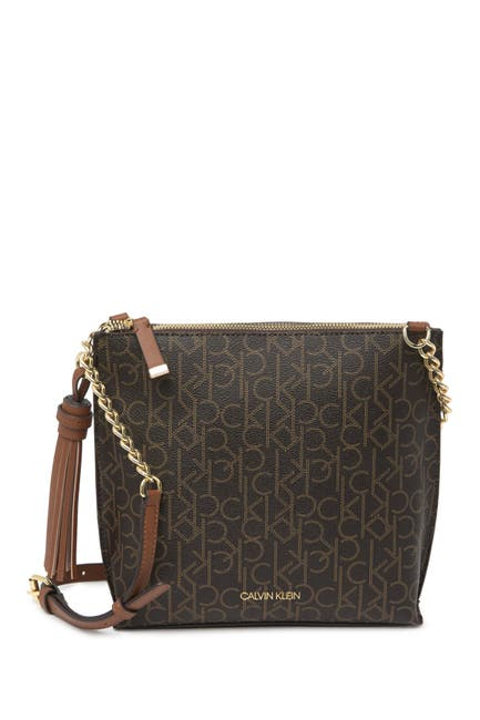 Image of Calvin Klein Pindot Logo Crossbody Bag
