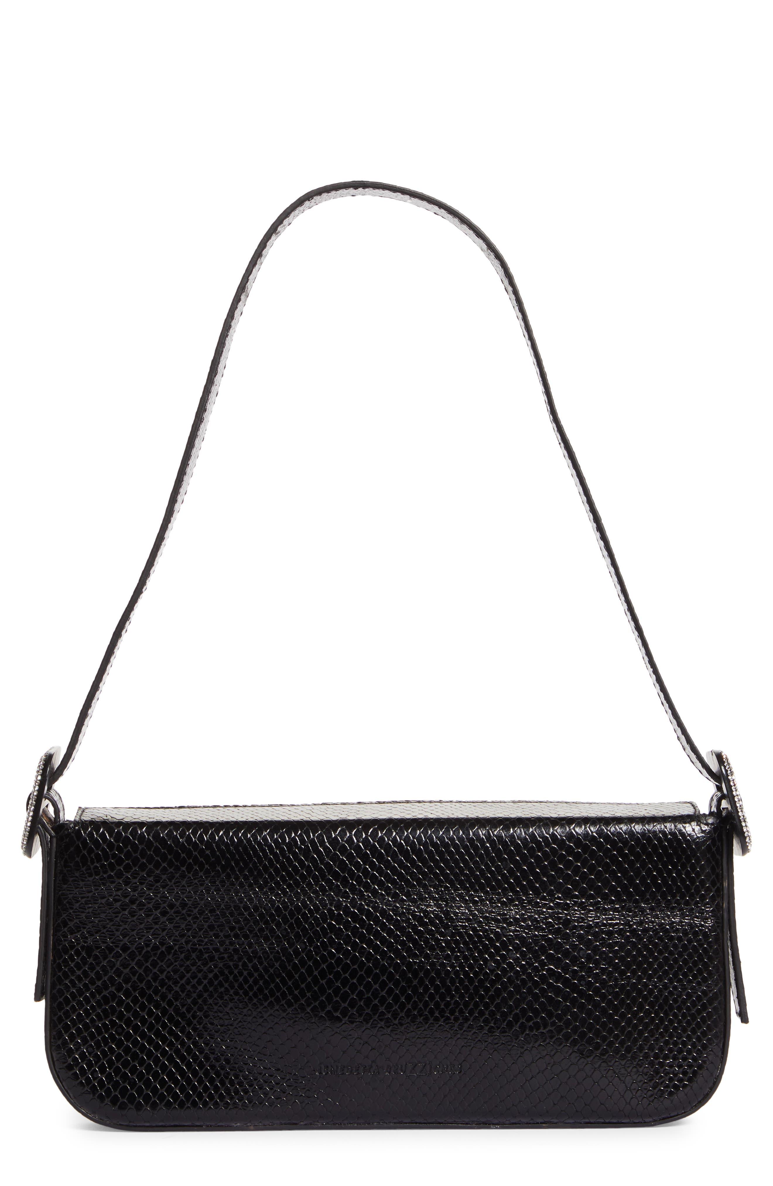 Fujiko Snake Embossed Leather Shoulder Bag