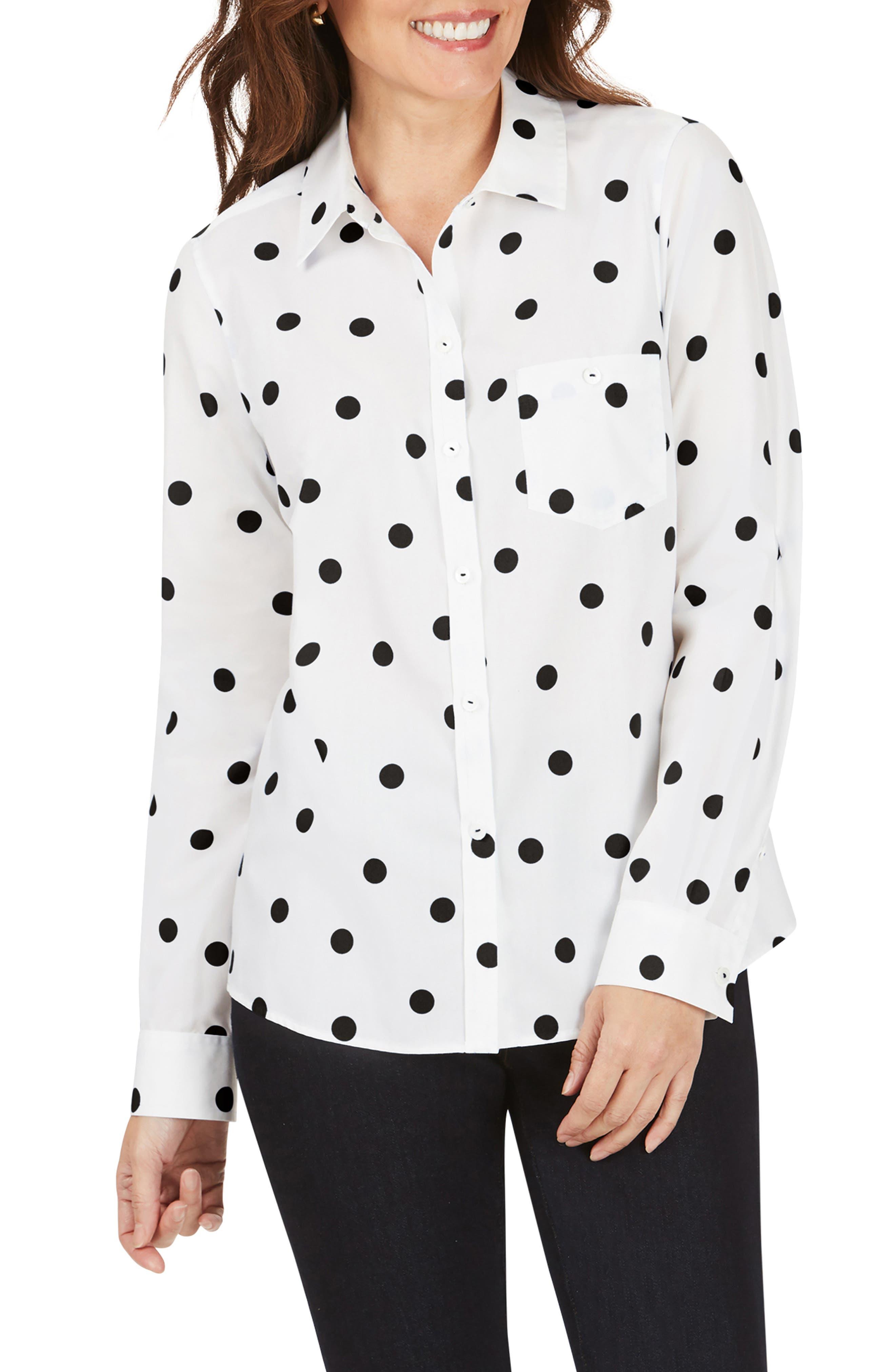 Hampton Flirty Dot Non-Iron Shirt