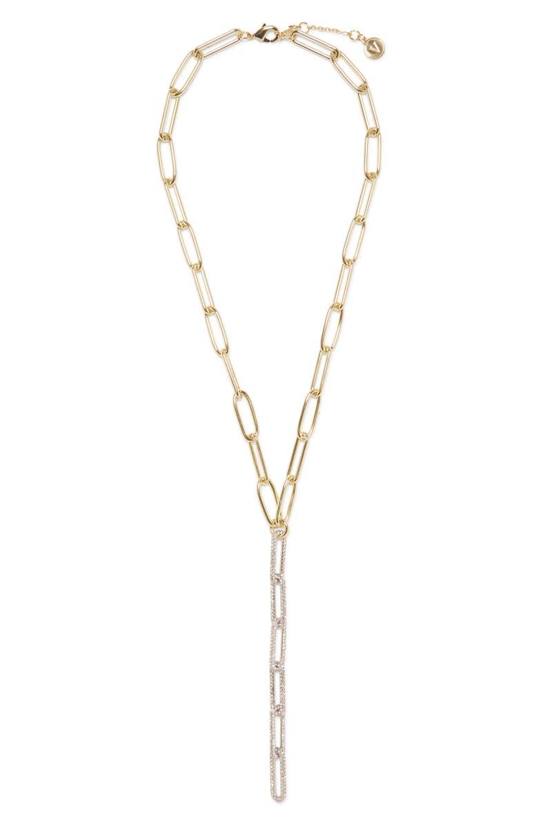 VINCE CAMUTO Link Y-Necklace, Main, color, GOLD