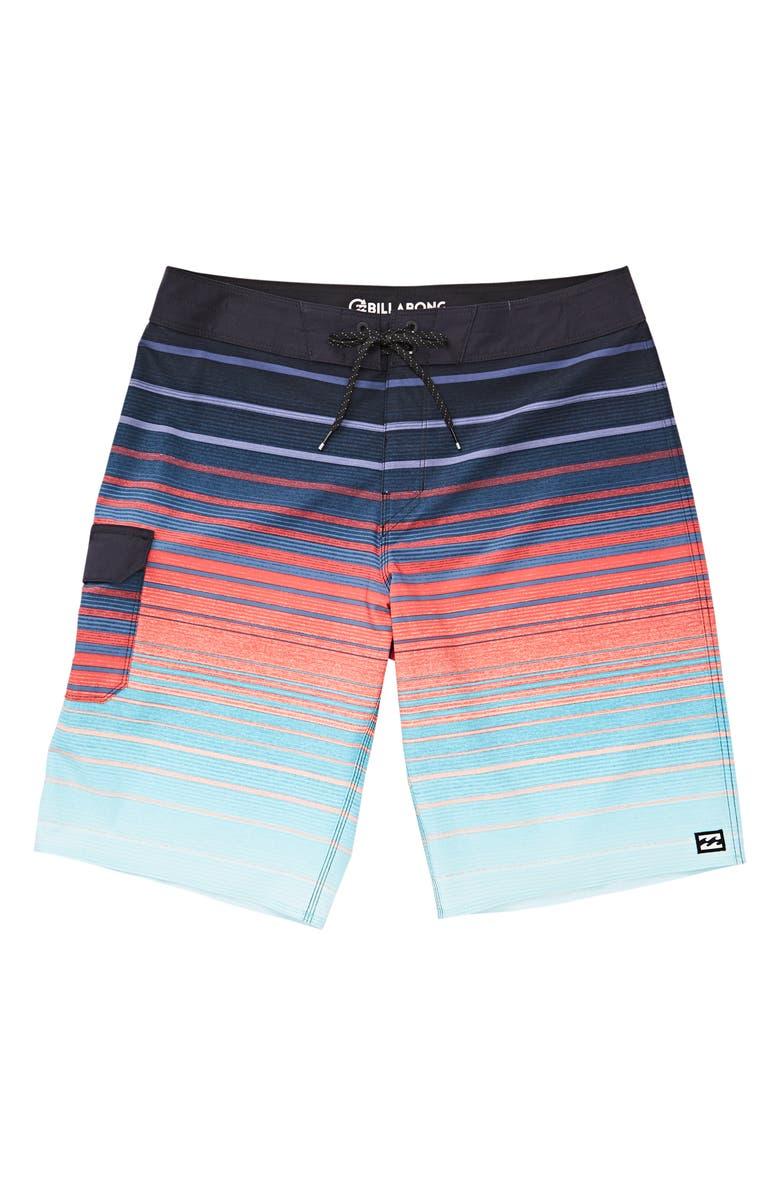 BILLABONG All Day Pro Stripe Board Shorts, Main, color, 400