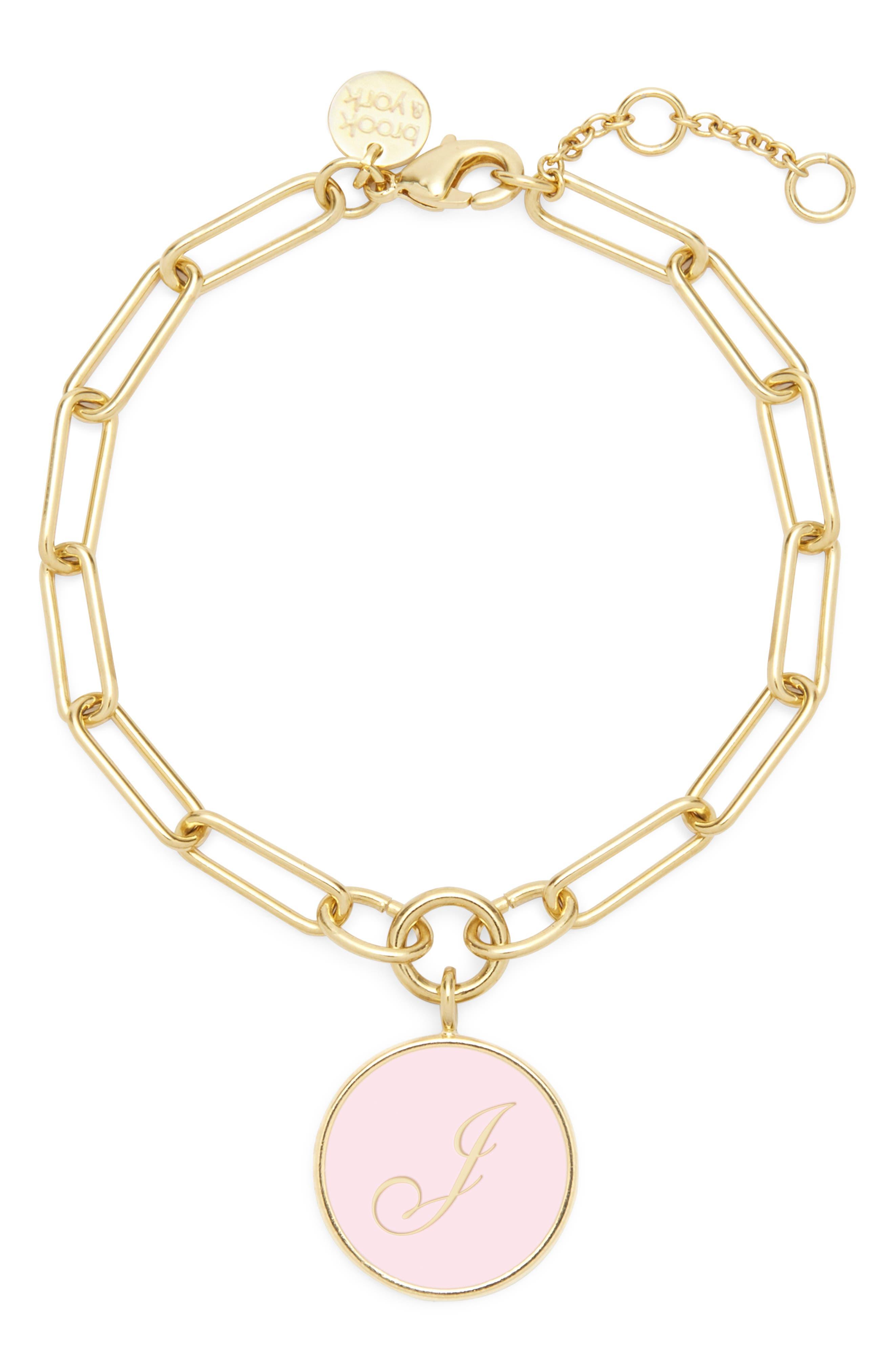Callie Initial Pendant Bracelet
