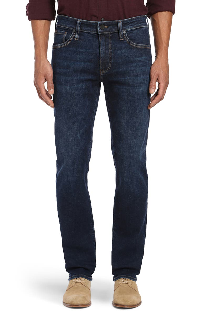 34 HERITAGE Courage Straight Leg Jeans, Main, color, DEEP INDIGO CASHMERE