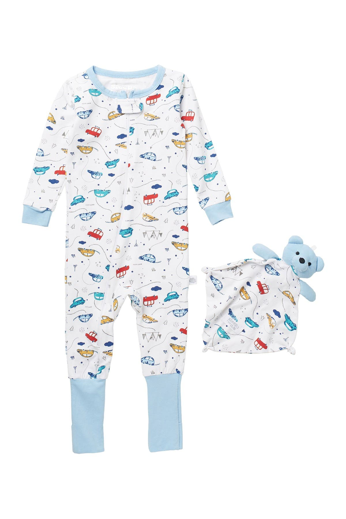Image of CLOUD NINE Coverall Pajamas with Blankey