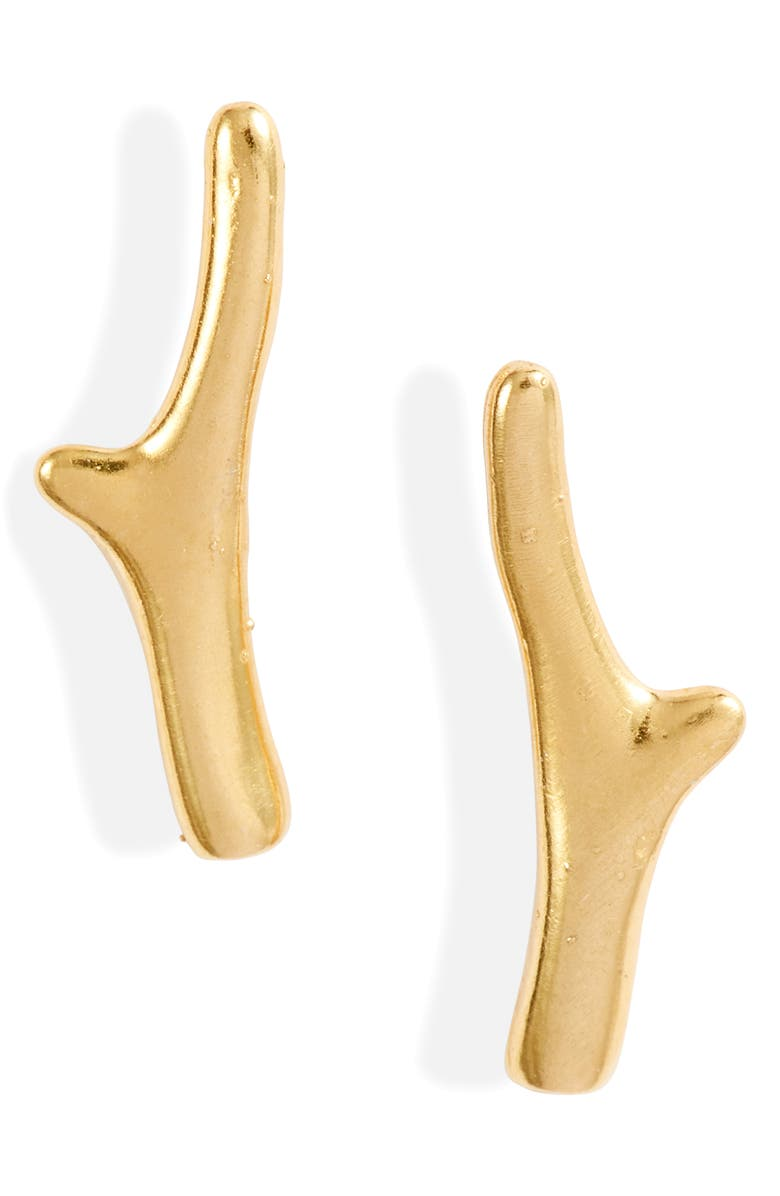 CHAN LUU Branch Stud Earrings, Main, color, YELLOW GOLD
