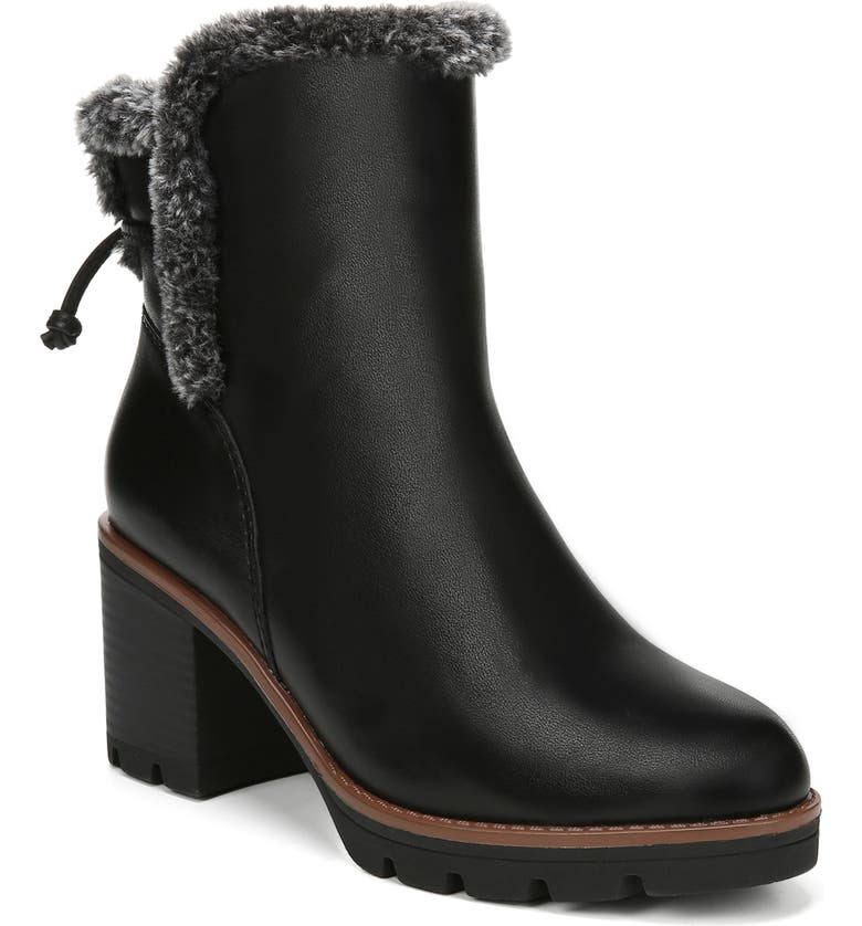 NATURALIZER Valene Waterproof Bootie, Main, color, BLACK LEATHER