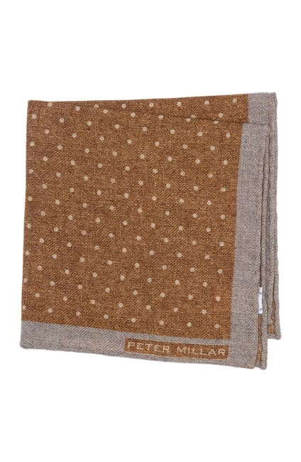 Image of Peter Millar Polka Dot Wool Pocket Square