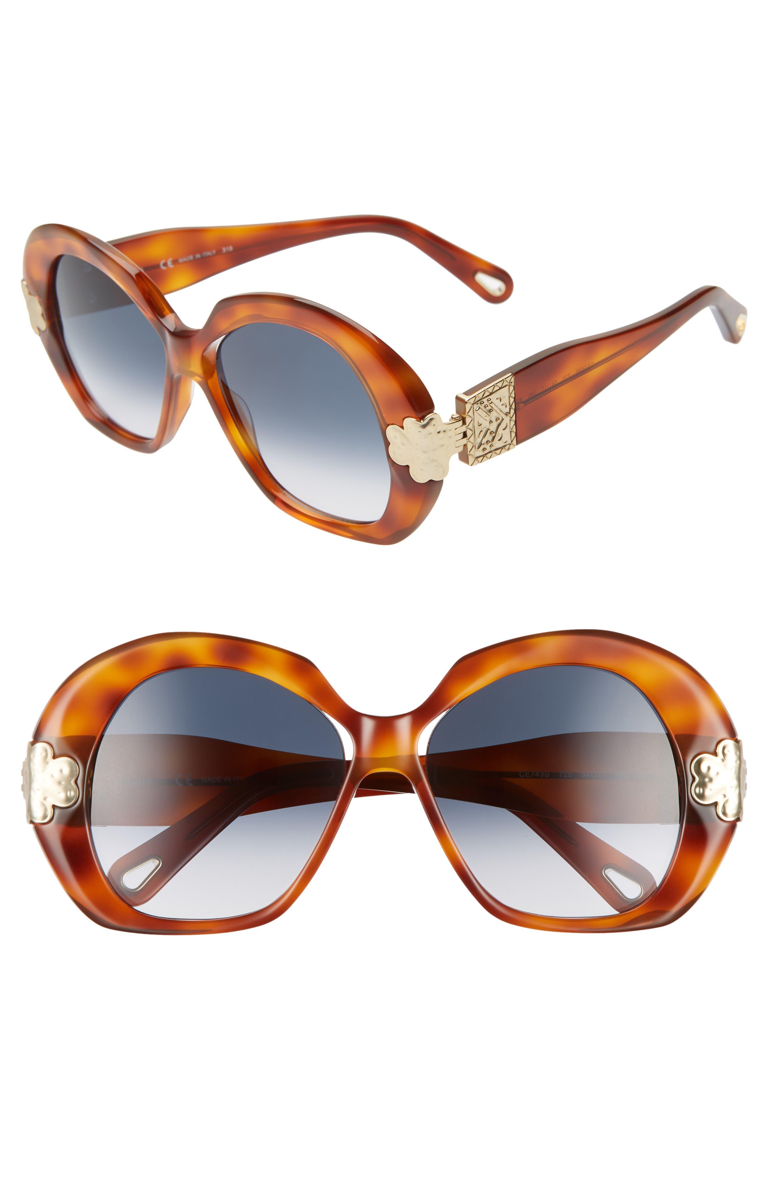 Chloe 5m Oval Sunglasses - Blonde Havana