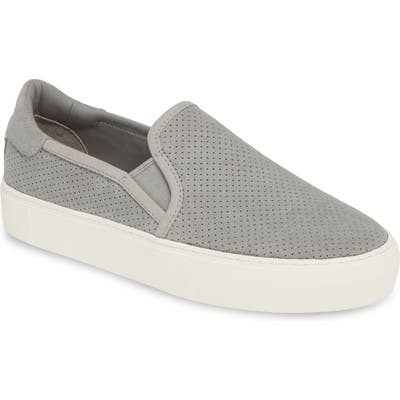 Ugg Abies Perforated Slip-On Platform Sneaker, Grey