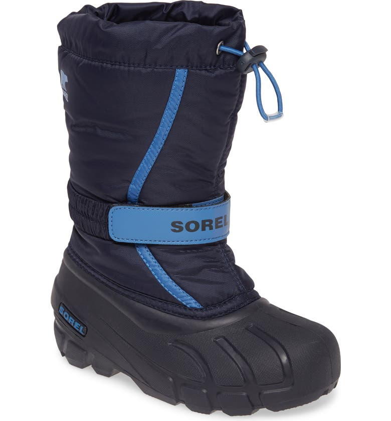 SOREL Flurry Weather Resistant Snow Boot, Main, color, COLLEGIATE NAVY