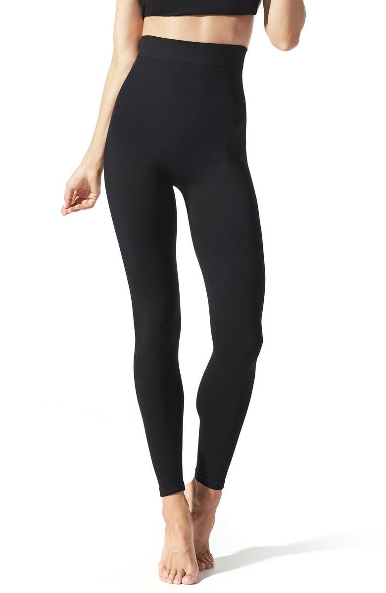 BLANQI Everyday High Waist Postpartum/Nursing Leggings, Main, color, BLACK