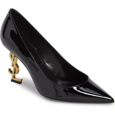 Saint Laurent Opyum Ysl Pointy Toe Pump, Black