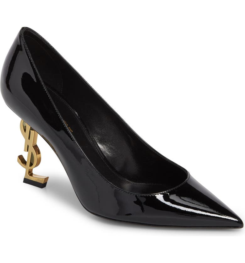 SAINT LAURENT Opyum YSL Pointy Toe Pump, Main, color, 001