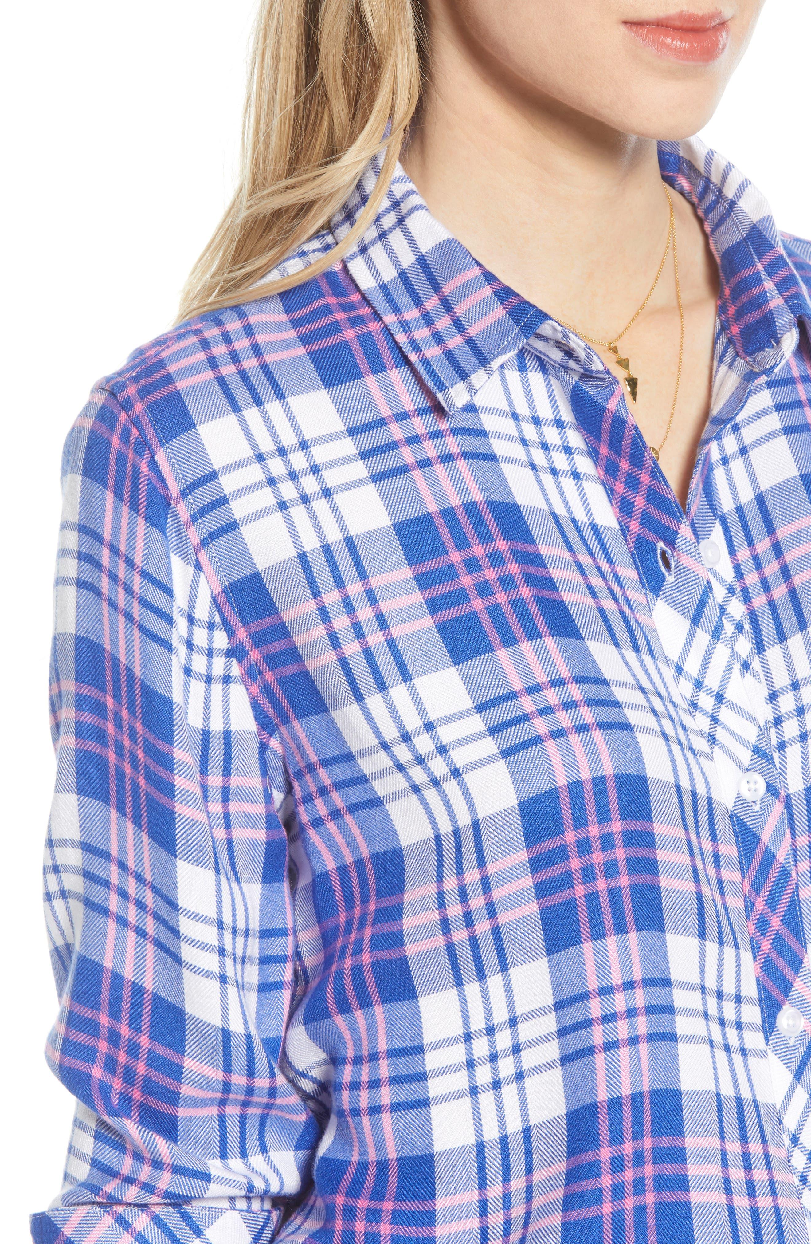 ,                             Hunter Plaid Shirt,                             Alternate thumbnail 123, color,                             425