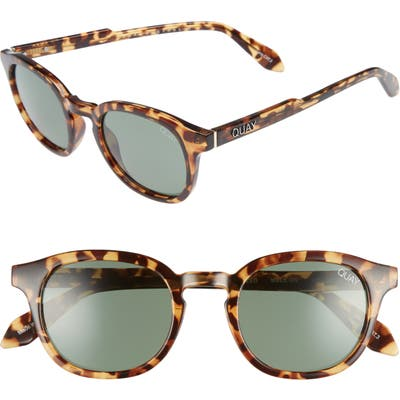 Quay Australia Walk On 47mm Polarized Sunglasses - Tort / Green Lens