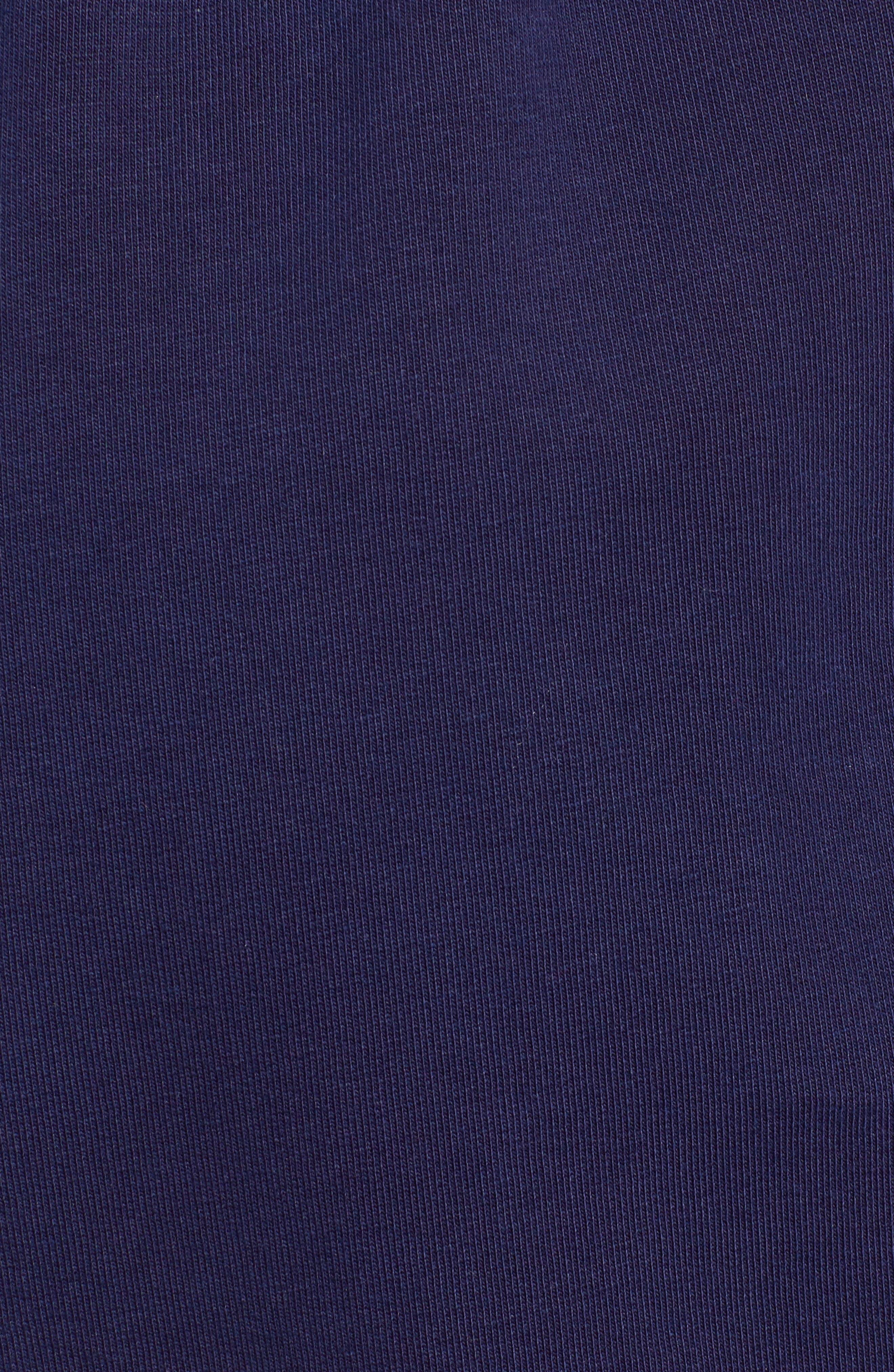 ,                             Paperbag High Waist Shorts,                             Alternate thumbnail 6, color,                             NAVY EVENING