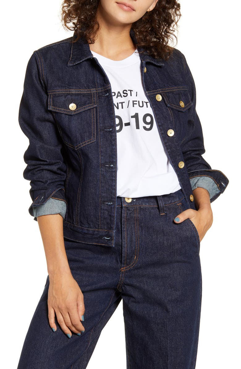 NOBODY DENIM Francoise Denim Jacket, Main, color, LUNA