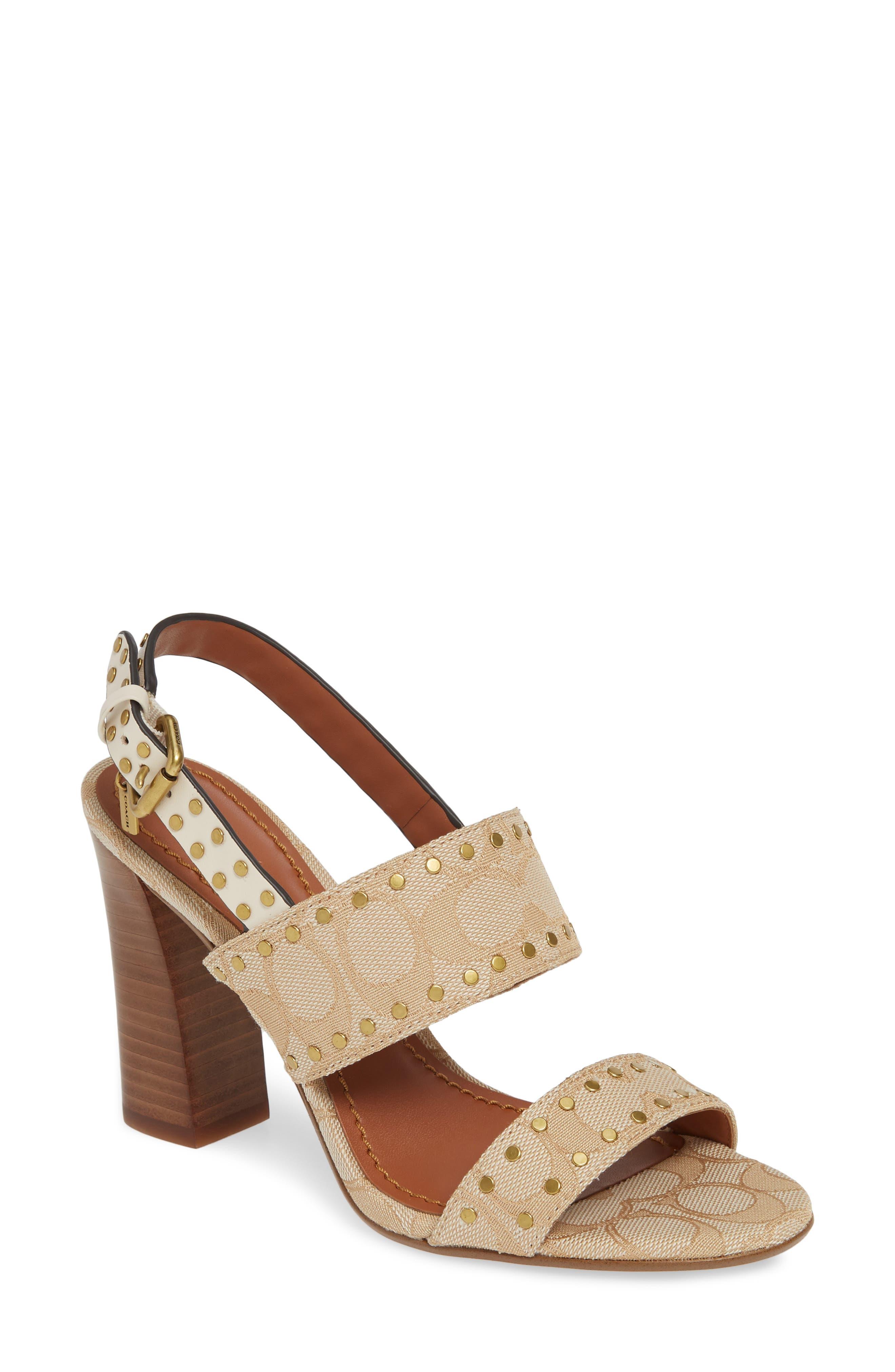 Rylie Sandal, Main, color, IVORY PRINT FABRIC