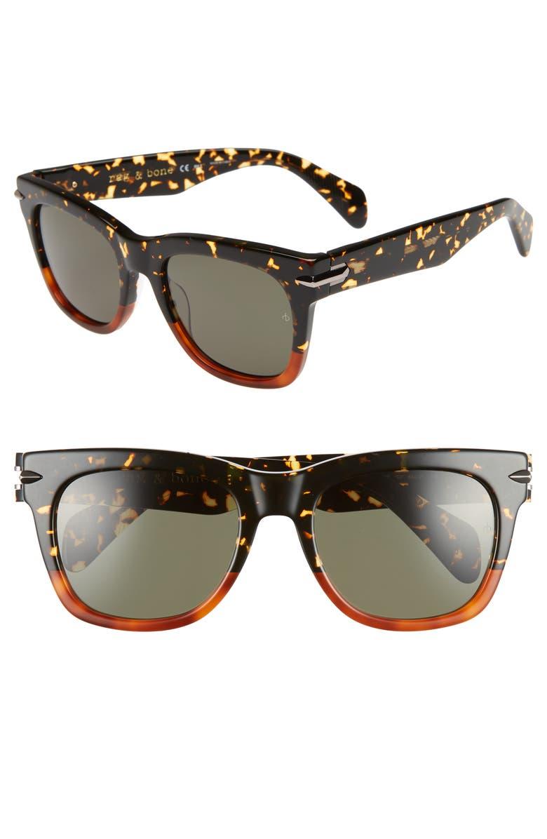 RAG & BONE 54mm Polarized Sunglasses, Main, color, 212