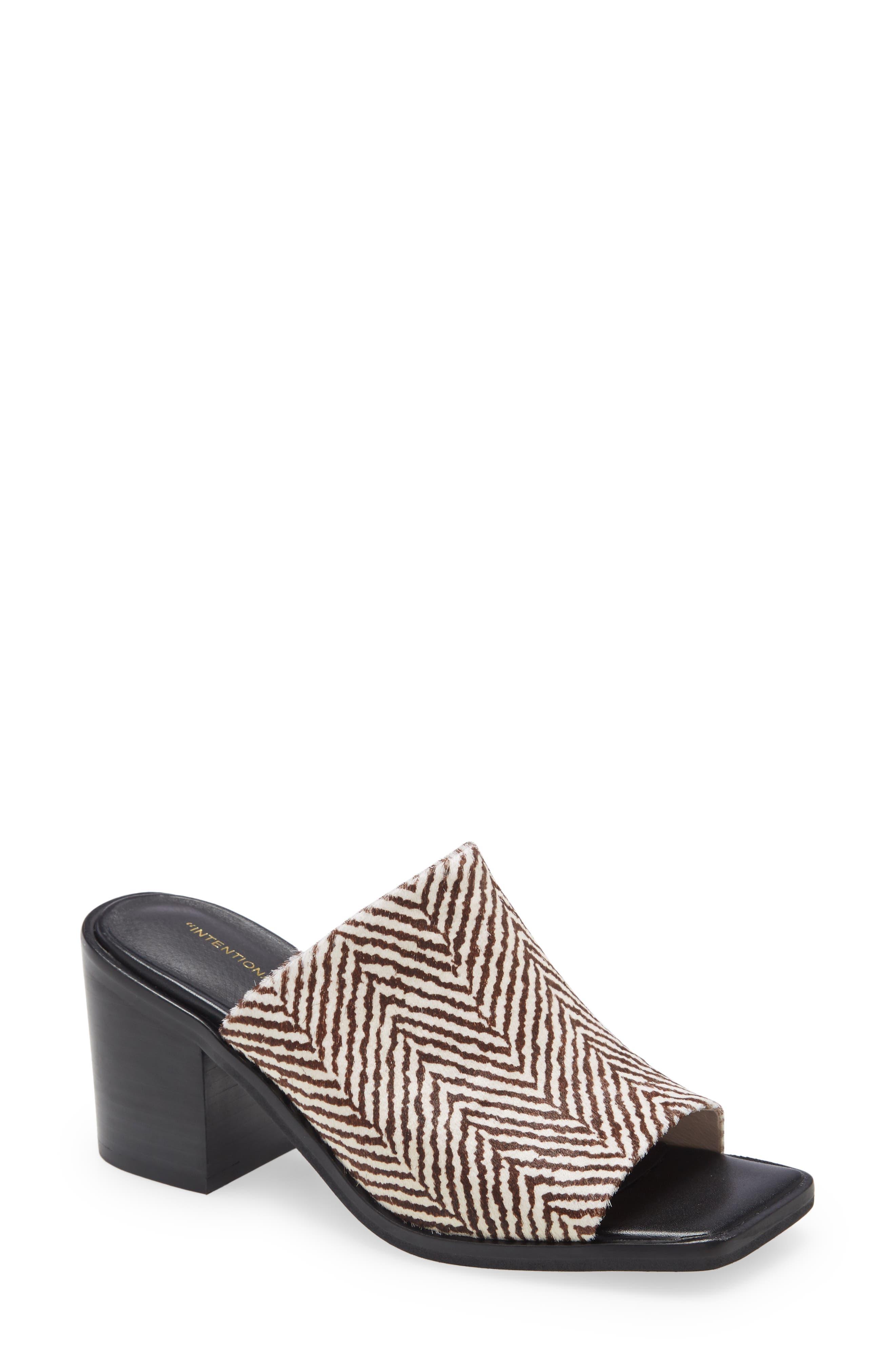Imply Genuine Calf Hair Slide Sandal