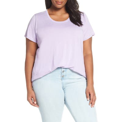 Plus Size Vince Camuto Scooped Burnout Tee