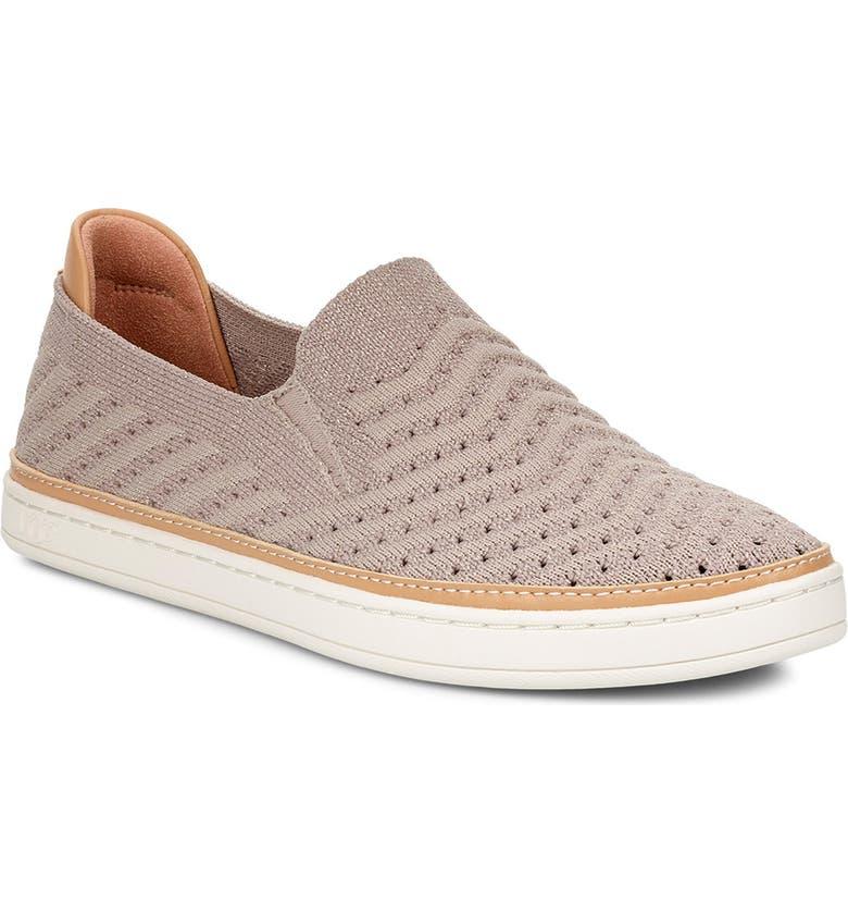 UGG<SUP>®</SUP> Sammy Slip-On Sneaker, Main, color, OYSTER SUEDE
