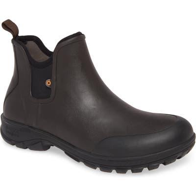 Bogs Sauvie Waterproof Chelsea Boot, Brown
