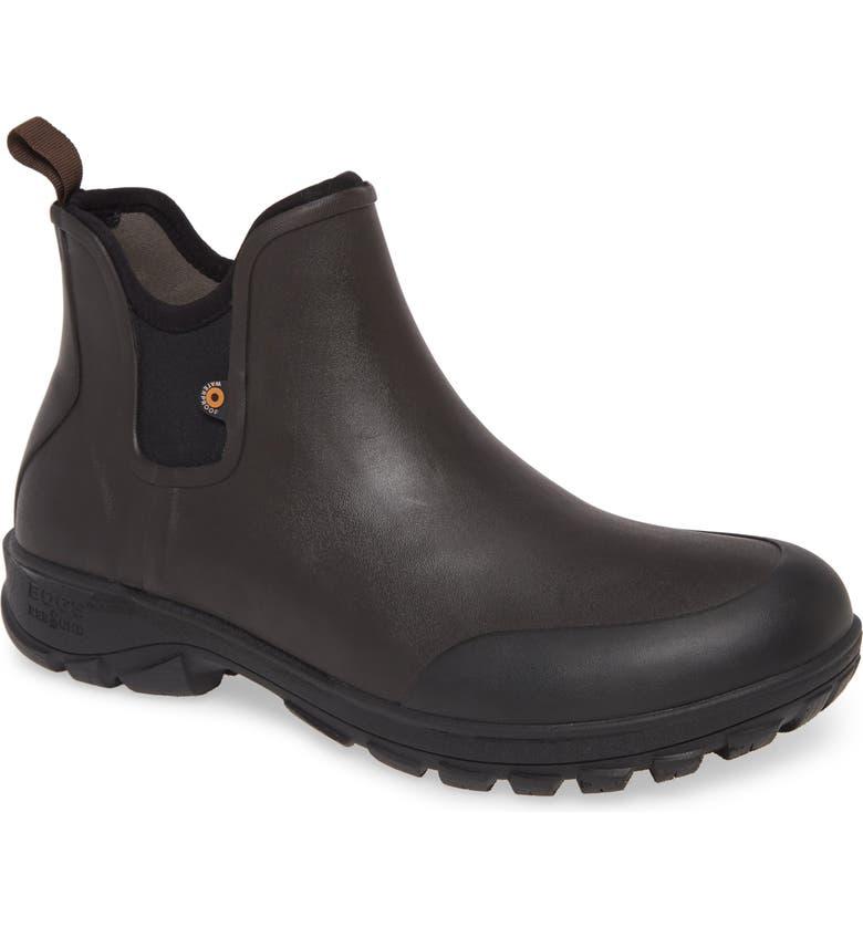 BOGS Sauvie Waterproof Chelsea Boot, Main, color, DARK BROWN