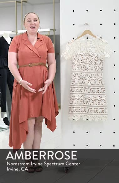 Lace Overlay Sheath Dress, sales video thumbnail