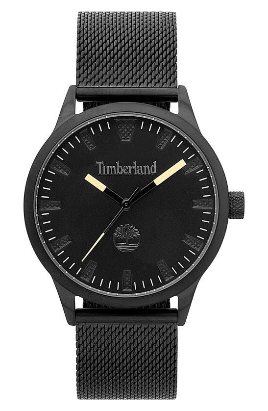Timberland Men's Black Stainless Steel Mesh Bracelet Watch 40mm