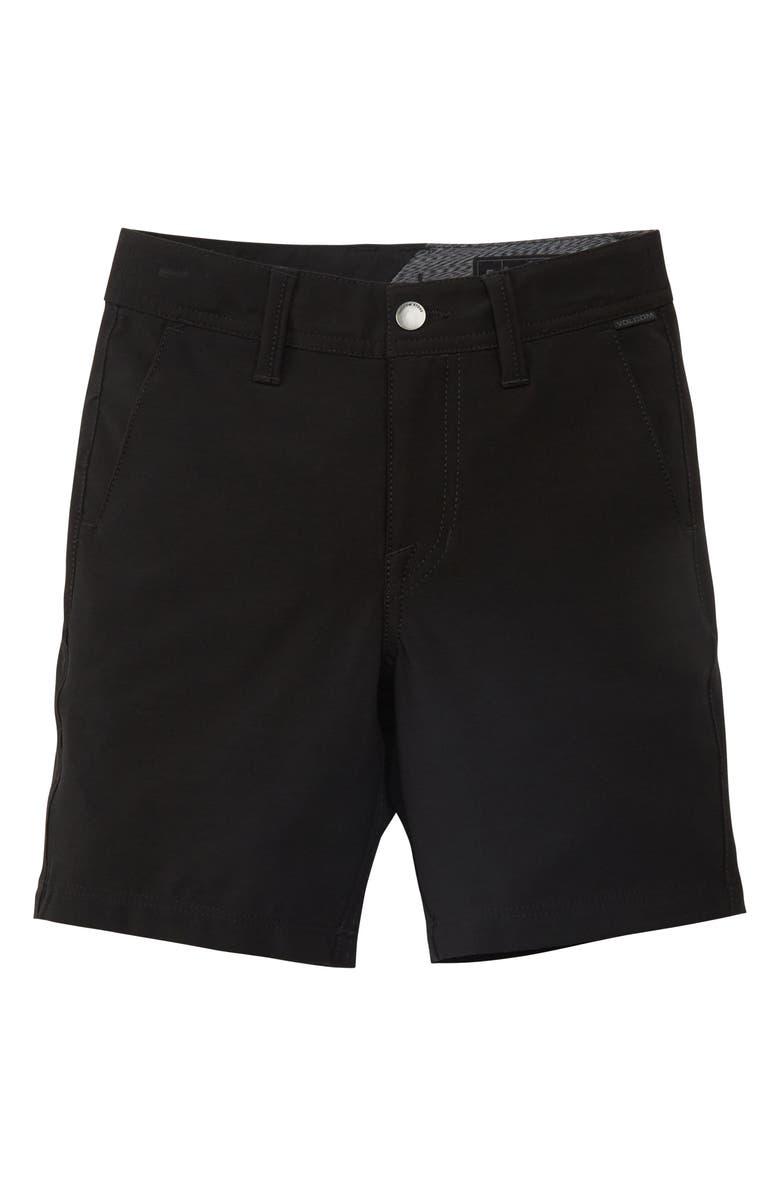 VOLCOM Surf N' Turf Static Hybrid Shorts, Main, color, BLACK OUT