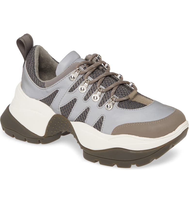 KENNETH COLE NEW YORK Maddox 2.0 Trail Sneaker, Main, color, SILVER LEATHER