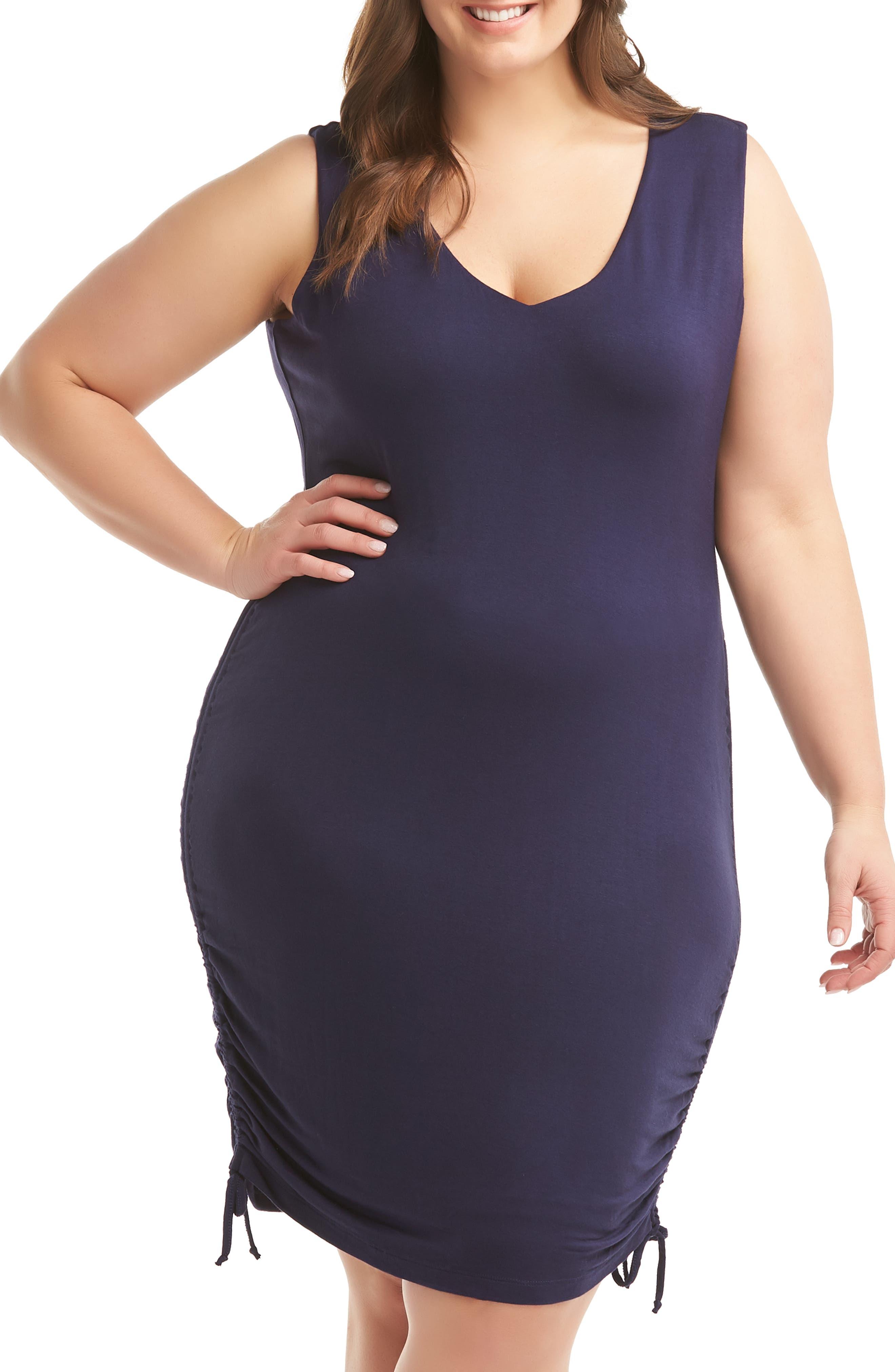Plus Size Lemon Tart Priya Dress, Blue