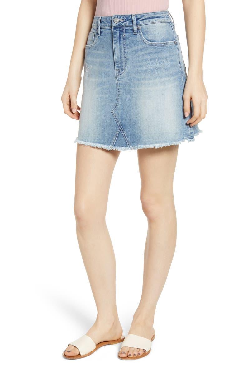 VIGOSS Denim Miniskirt, Main, color, 400