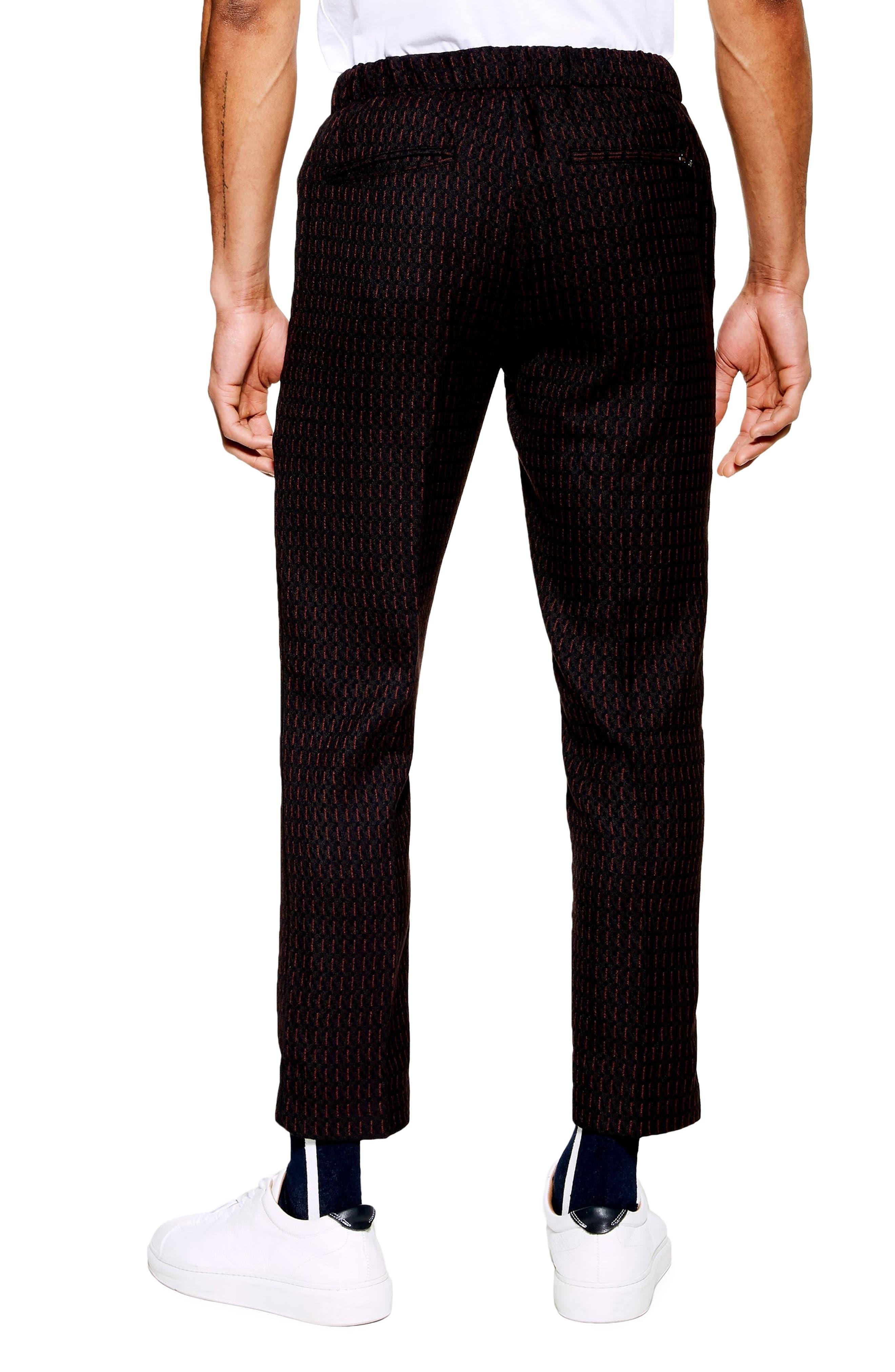 ,                             Pinstripe Crop Trousers,                             Alternate thumbnail 2, color,                             NAVY BLUE