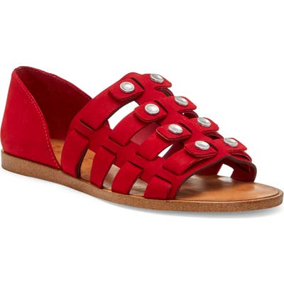 1.state Telle Studded Strappy Sandal, Red
