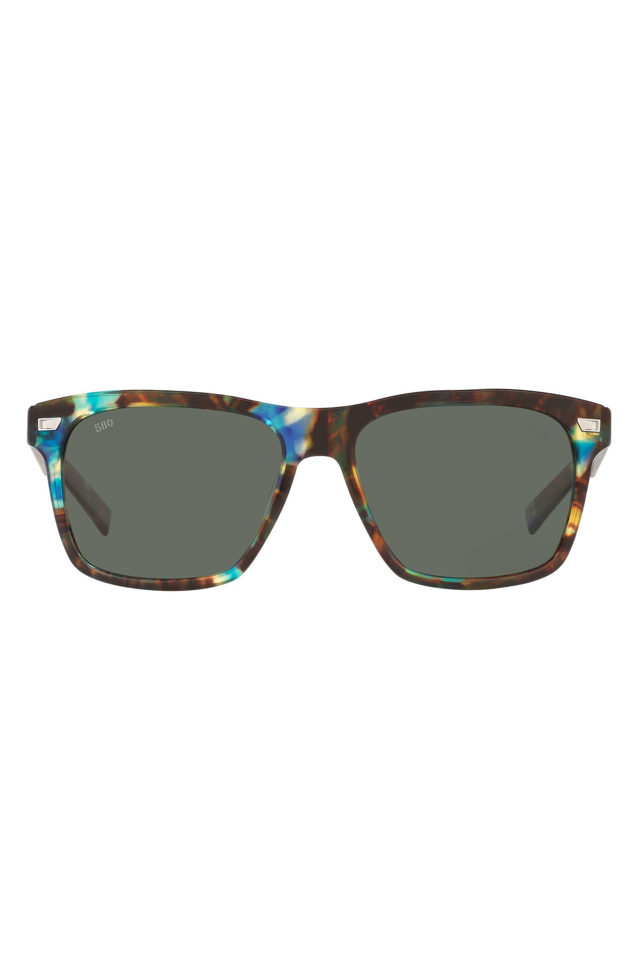 Phantos 58mm Polarized Rectangular Sunglasses