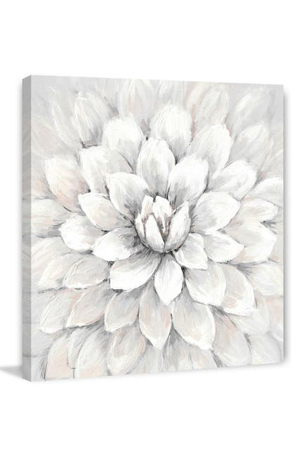 """Image of Marmont Hill Inc. White Chrysanthemum Painting Print on Wrapped Canvas - 18"""" x 18"""""""
