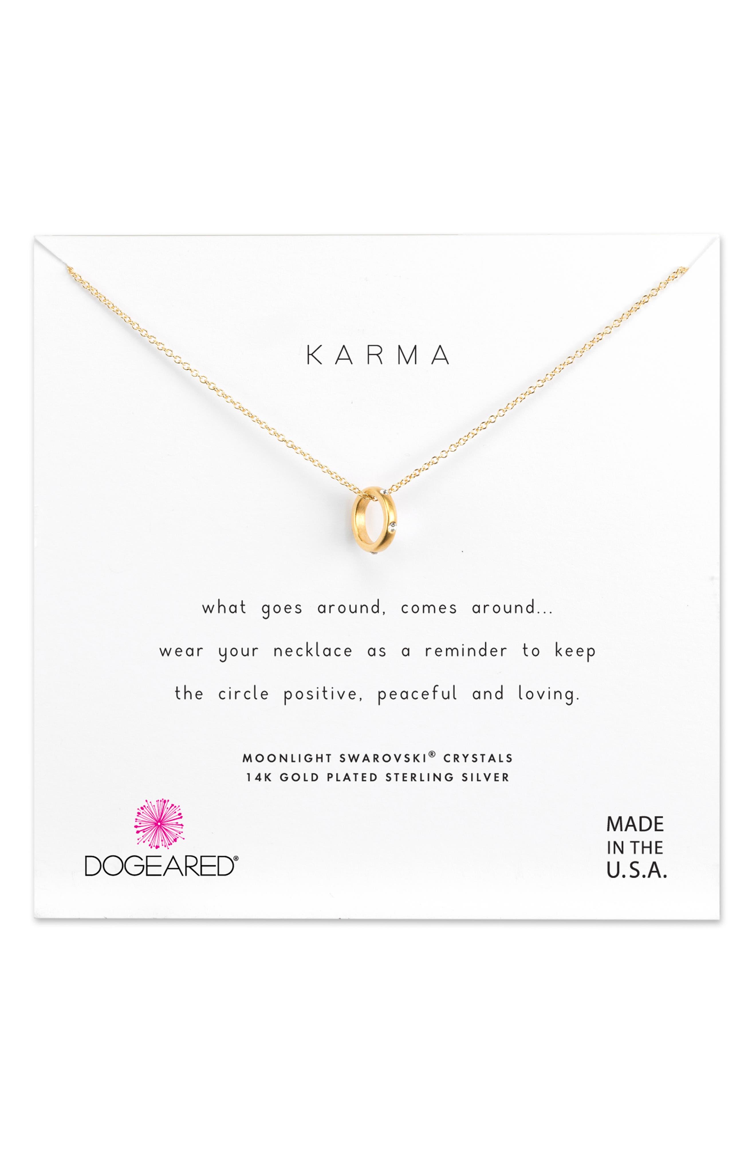 Dogeared Karma Necklace