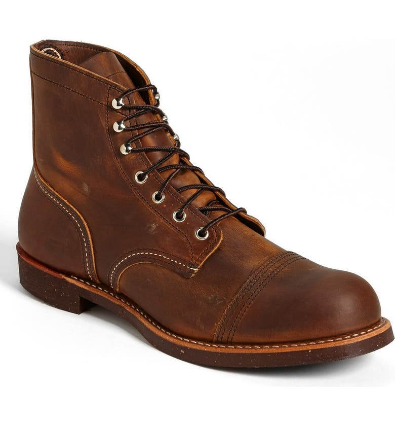 RED WING 'Iron Ranger' 6 Inch Cap Toe Boot, Main, color, 200