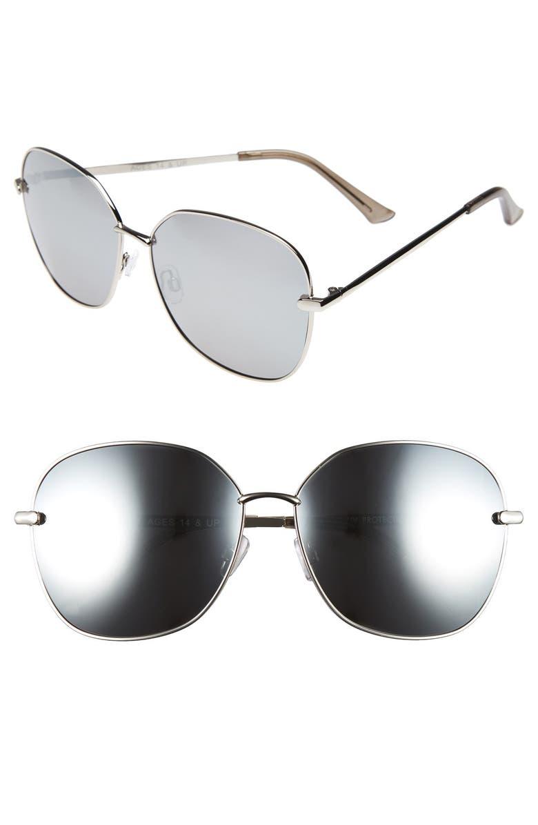 FANTASEYES Fantas Eyes 'Highball' 63mm Square Sunglasses, Main, color, 040