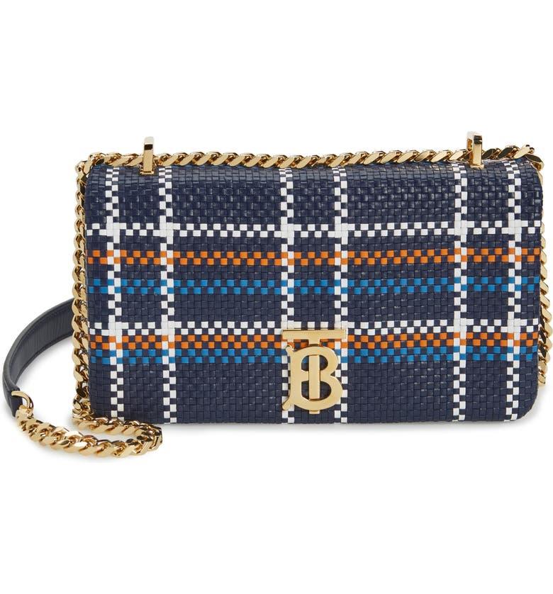 BURBERRY Small Lola Leather Shoulder Bag, Main, color, BLACK MULTI