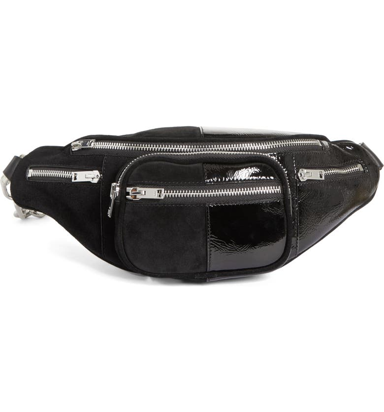 ALEXANDER WANG Attica Leather & Suede Fanny Pack, Main, color, 001