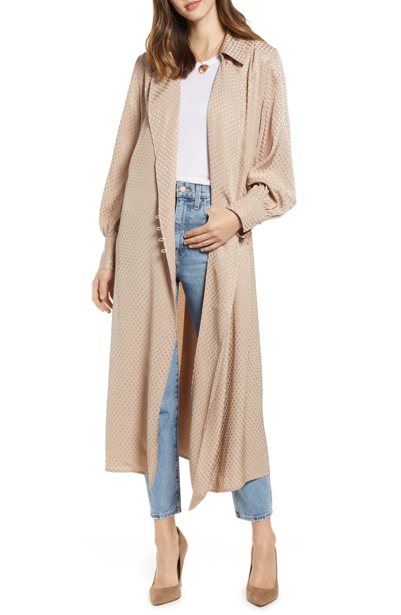 SOMETHING NAVY Shirting Coat, Main, color, 230