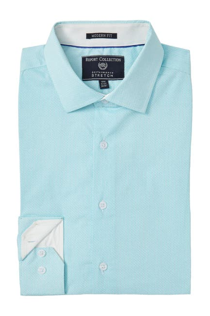 Image of Report Collection Micro Print Modern Fit Dress Shirt