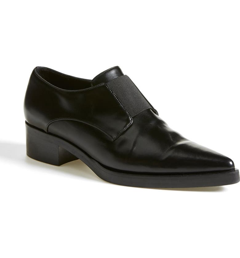 STELLA MCCARTNEY Pointy Toe Loafer Flat, Main, color, 001