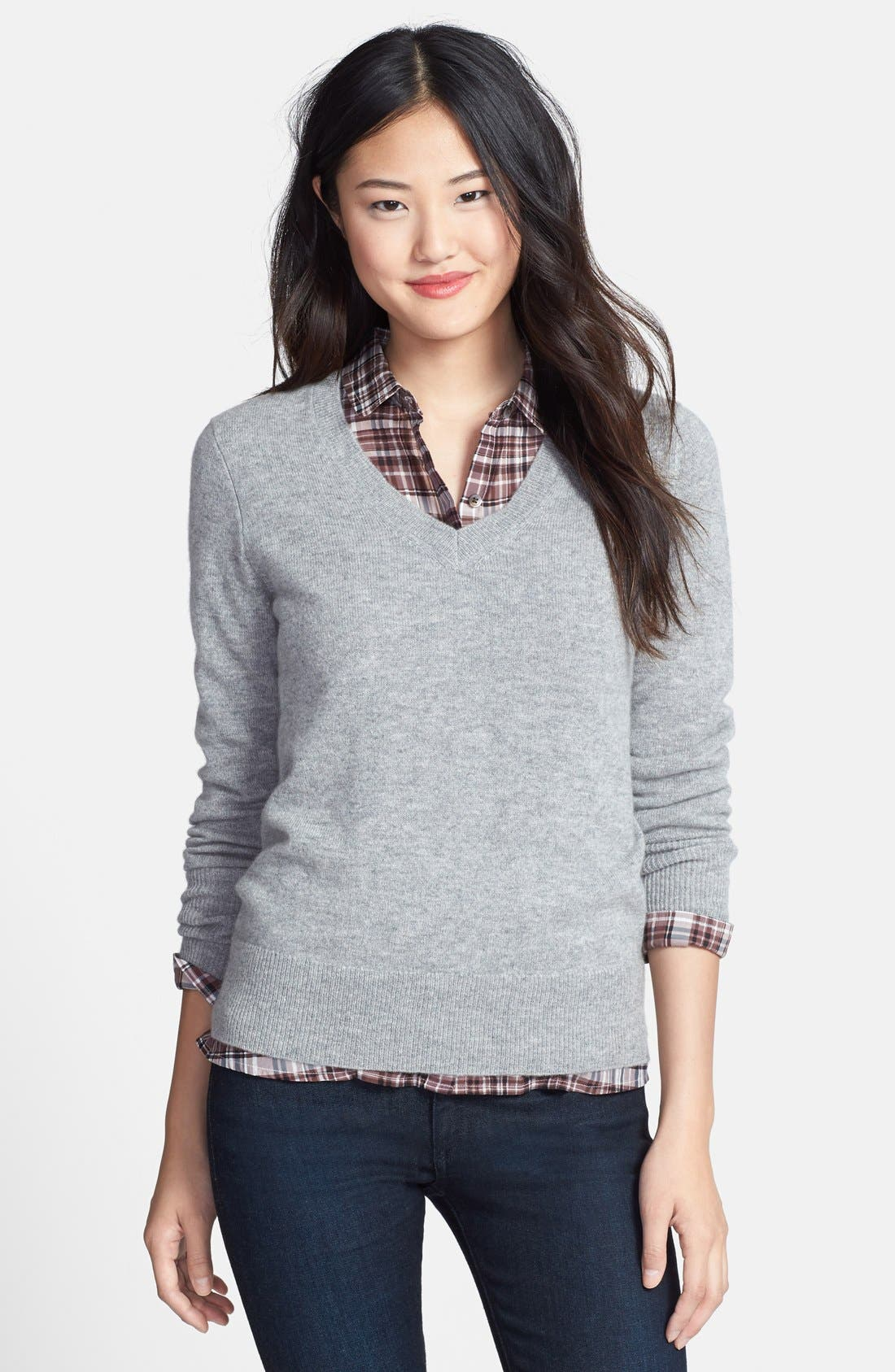 ,                             Cashmere V-Neck Sweater,                             Main thumbnail 13, color,                             031
